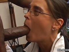 Experienced cheyenne hunter milks a bbc dry. tubes