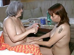 Nurse sucks sexy tits of granny babe tubes