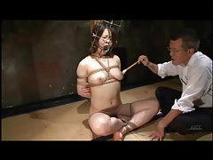 Kinky play with bound japanese girl tubes