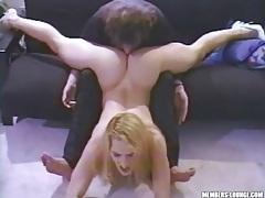 Flexible hot blonde gets her pussy eaten lustily tubes