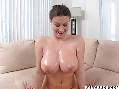 Sara stone fondles her big natural tits solo tubes