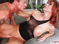 Milf redhead in sexy boots fucked tubes