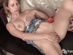 Sexy harley fingering her pussy and ass tubes