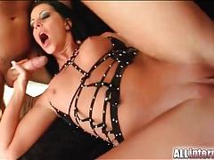 Perky tits brunette larissa loves creampie sex tubes