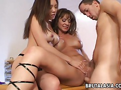 Asian slut kaiya lynn fucked in a kinky ffm threesome tubes
