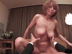 Hard dick fills japanese pussy of matsuka tubes