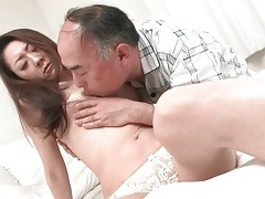 Old guy goes down on japanese hottie tubes