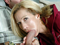 Mom in tracksuit sucks a dick tubes