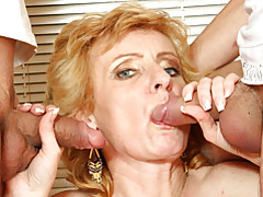 Small tits blonde mature sucks dicks tubes