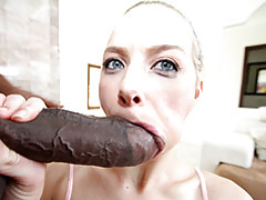 Sporty blonde sucks big black cock tubes