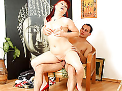 Mature redhead fucked by young cock tubes