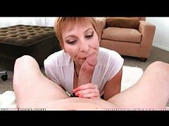 Short hair gemma more gives thick dick blowjob tubes