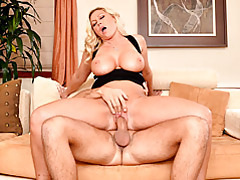 Busty mommy loves riding dick tubes