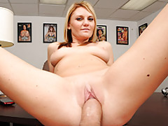 She gently rides big cock tubes