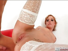 Sexy white stockings on creampie fuck slut tubes