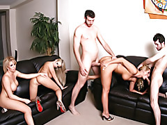 MILF fivesome tubes