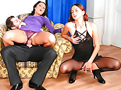 Slut in a purple dress tubes