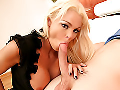 Blonde mom eats dick tubes