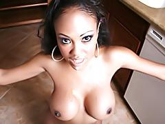 Cumming on black tits tubes