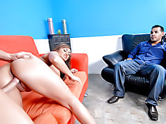 Watching his wife fuck! tubes