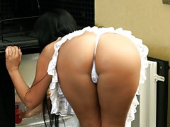Big Ass White Lingerie tubes