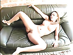 Busty Latina has her firm tits oiled up and pussy fucked tubes