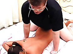 latina with glasses rammed hard in the bedroom tubes