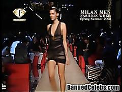 Nip slips in the Paris Fashion Week tubes