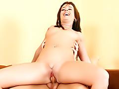 Slim older chick on cock tubes
