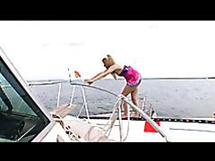Hot redhead Ally Ann giving the coastguard a bj for saving her life tubes