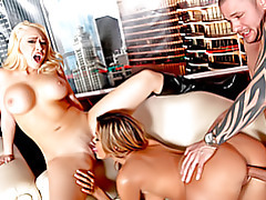 Busty babe threesome fuck scene tubes