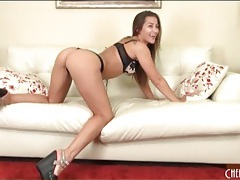 Dani daniels models sexy new bra and panty set tubes