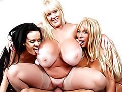 Huge titty sluts ride him tubes