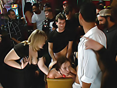 Boned at a bar with many viewers tubes
