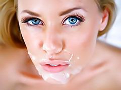 Super pretty blonde gets facial tubes