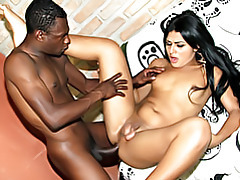 Black dick fucks tranny ass tubes