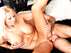 Slippery blonde milf craves him tubes