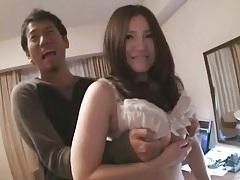 Big tits japanese girl in sheer pantyhose tubes