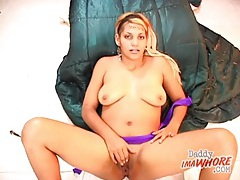 Slut brushes her teeth with his cum tubes