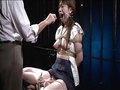 He makes bound japanese girl suffer for fun tubes