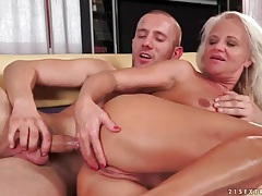 Blonde mature screwed up the ass doggystyle tubes