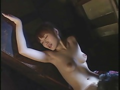 Limber japanese girl bends over for sex tubes