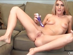Purple dildo makes amanda tate a happy girl tubes