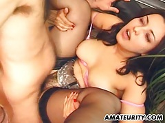Amateur girlfriend suck and fuck with facial tubes