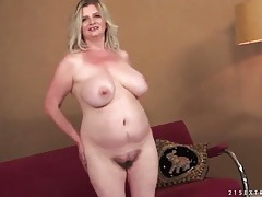 Fat girl fondles her mature tits in tease video tubes