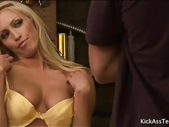 Solo tanned blonde cassie young striptease tubes