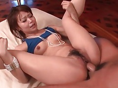Flexible japanese hottie fucked in her pussy tubes