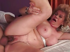 Vigorous granny blowjob and good hardcore fuck tubes
