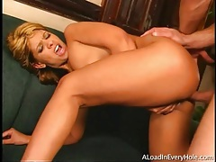 Creampie fucked into the ass of latina slut tubes