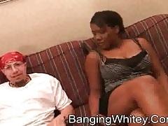 Black cocksucker on her knees in hotel room tubes